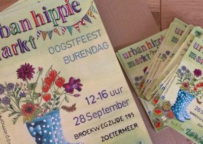 Flyer Urban Hippie Markt Zoetermeer