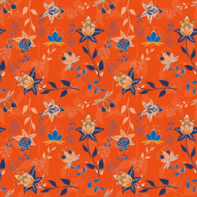 Indian Florals Roest