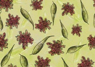 patroon Knautia groen