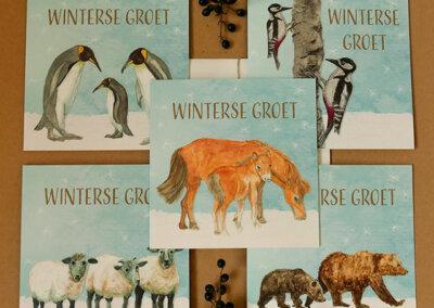 wenskaartencollectie Winterse groet