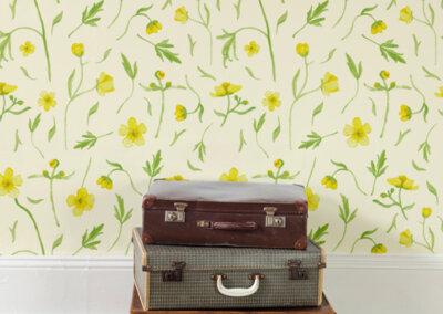 behang boterbloemen