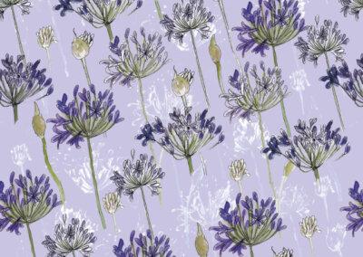 Patroon Agapanthus lila